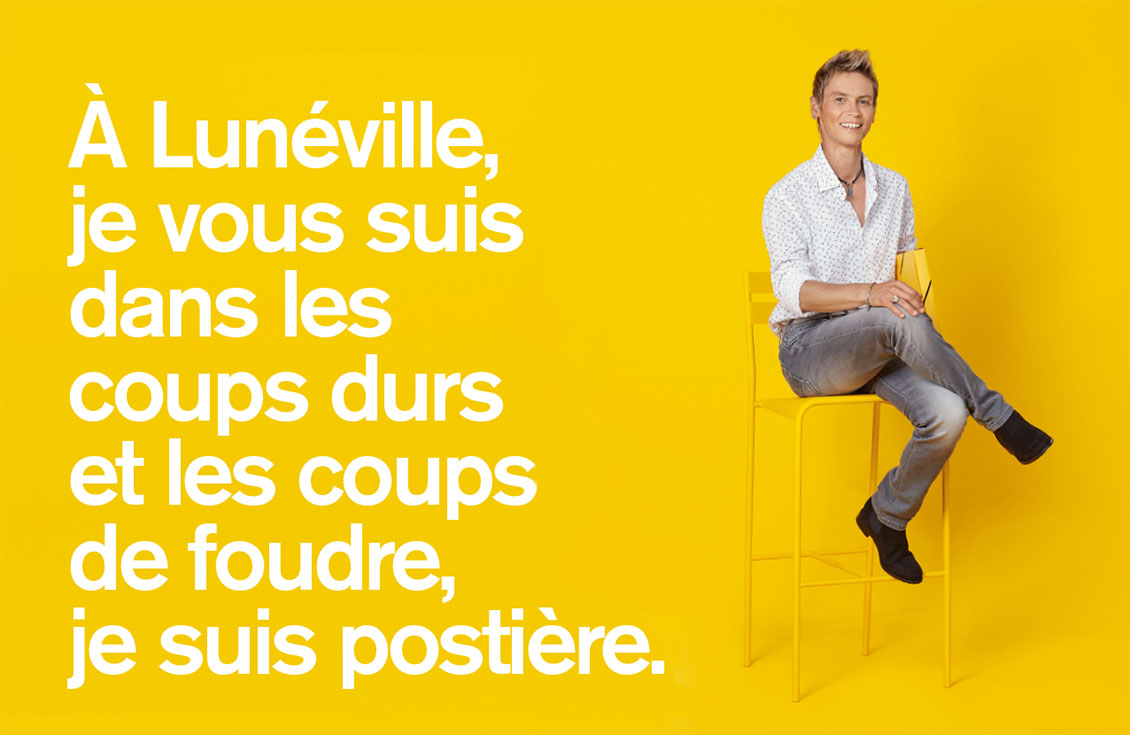 [AFFICHE] Campagne postiers 2018 - Caroline Mansuy, conseillère bancaire à Lunéville
