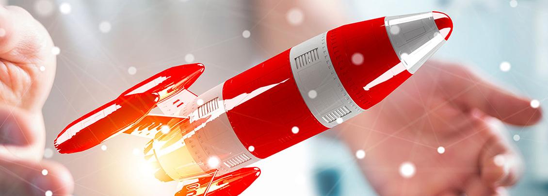 Image d'illustration : une petite fusée pour symboliser l'accélération