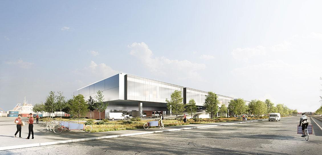 Une maquette du futur hôtel logistique de Lyon