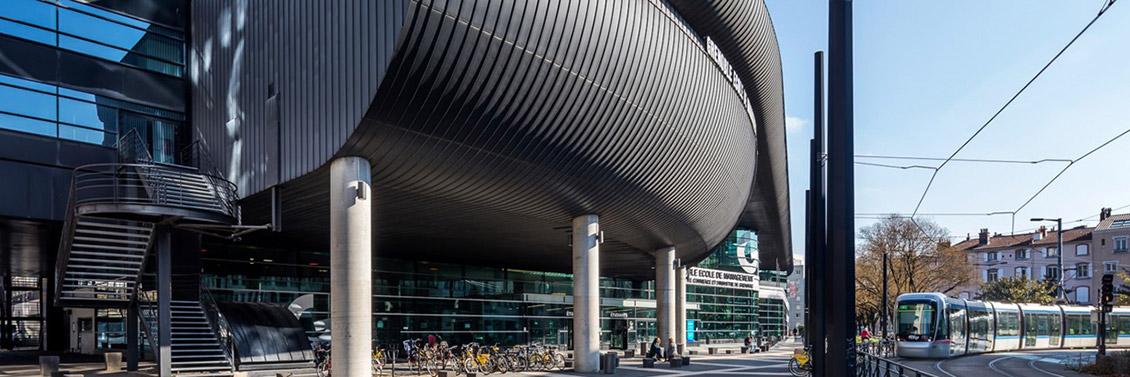Photo des bâtiments de GEM, Grenoble École de Management.