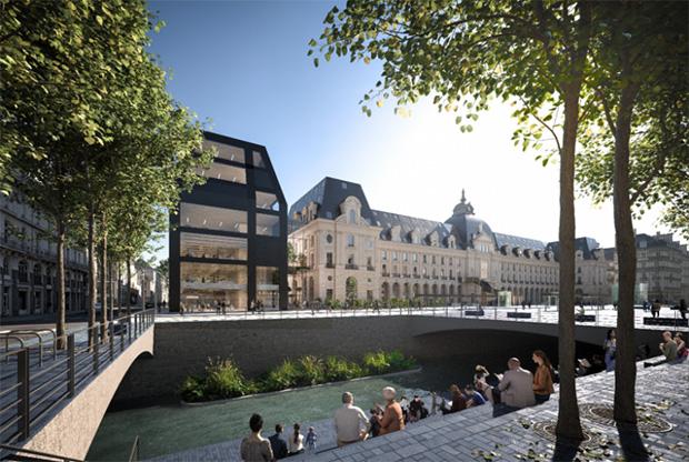 Photo du projet vue des quais de Rennes