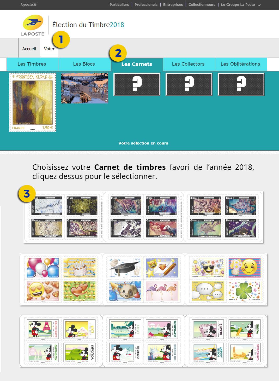 Mode d'emploi du vote sur le site www.electiondutimbre.fr