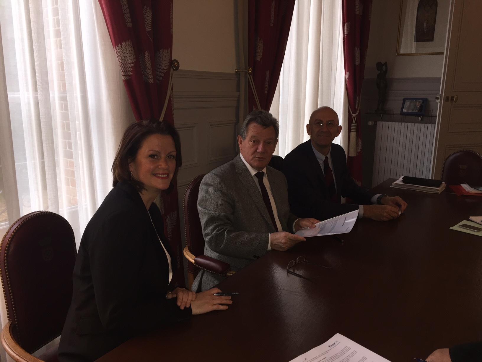 Signature du partenariat entre le Groupe La potse et l'AMF28