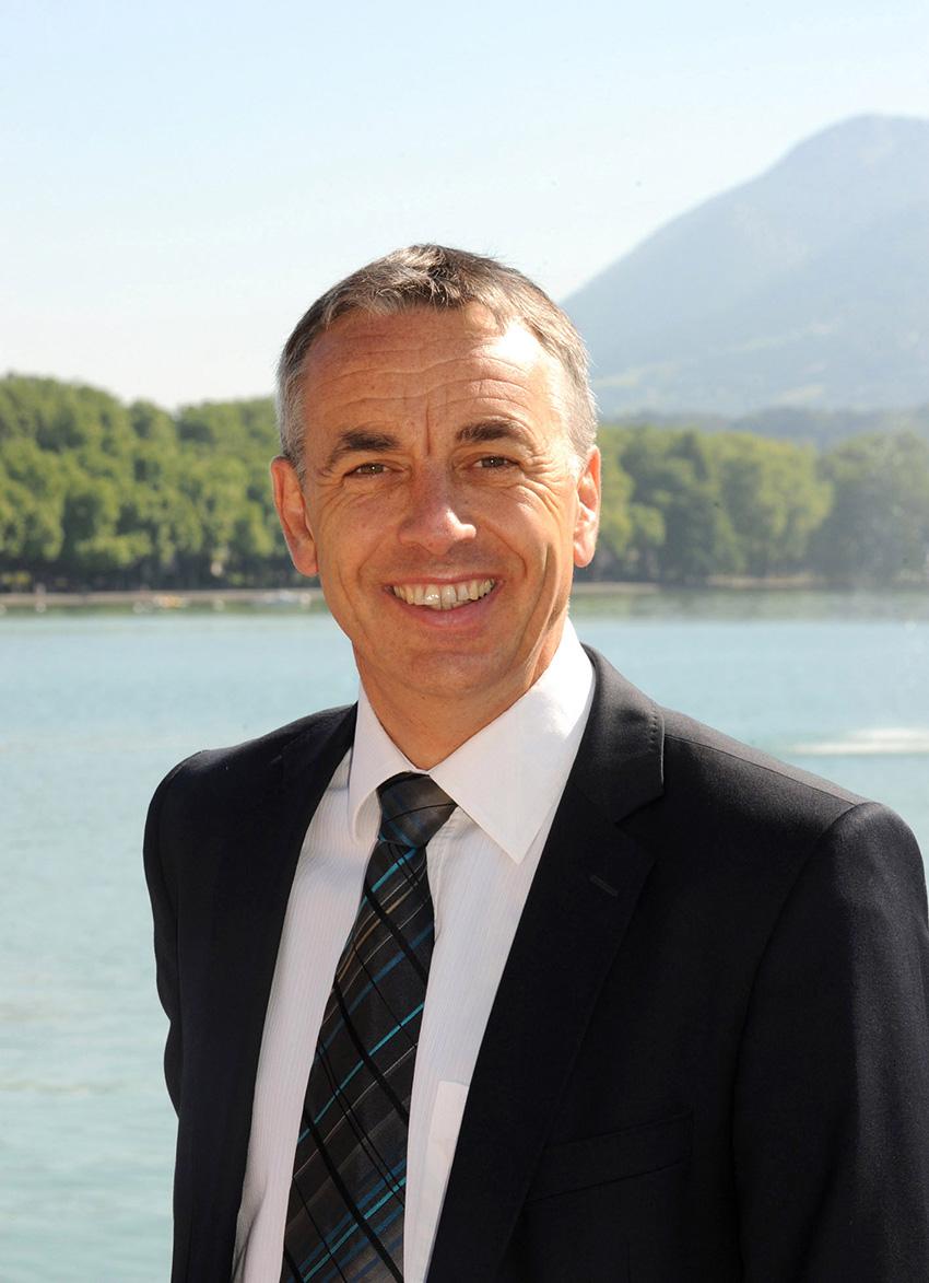 Jean-Luc Rigaut, maire de la commune nouvelle d'Annecy