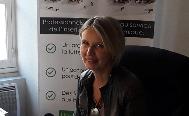 Nathalie Glatigny, responsable de l'agence ID'EES Intérim d'Alençon.