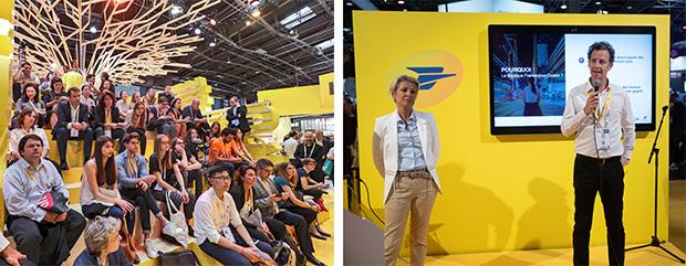 Pitch d'une des 40 start-up partenaires invitées par La Poste