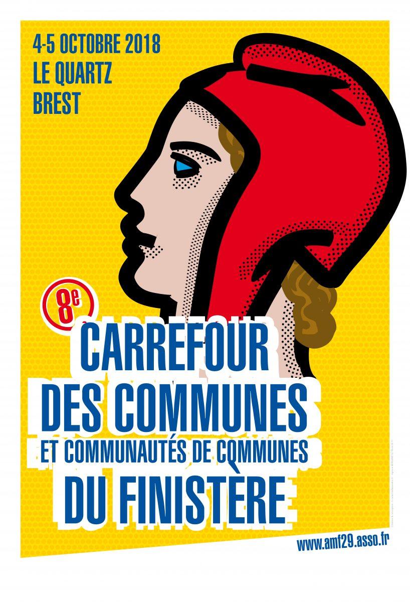 Affiche du Carrefour des communes 2018 à Brest