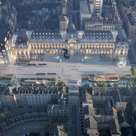 Une vision 3D du projet Renaissance proposé par le Groupement Frey.