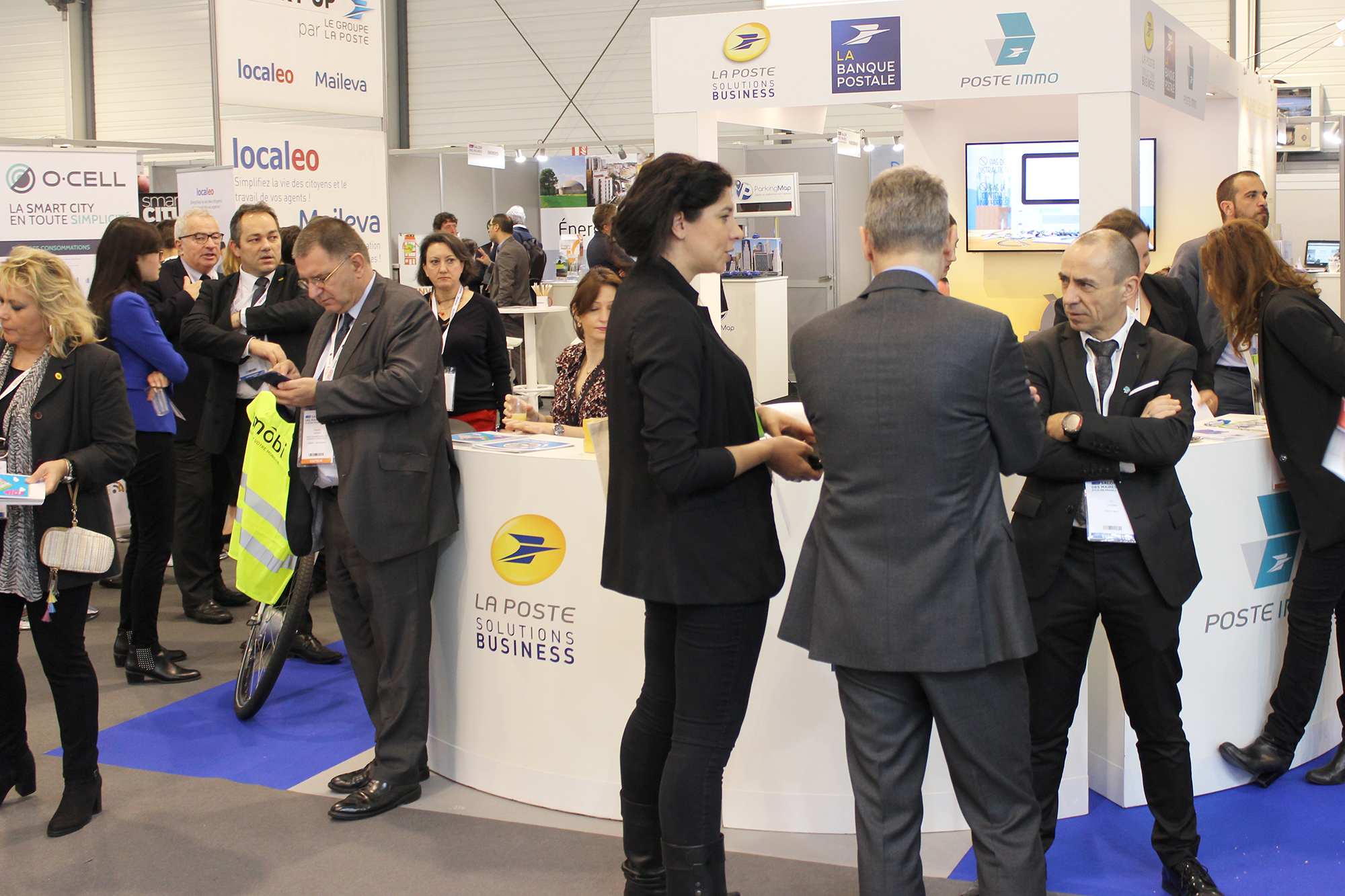 The Le Groupe La Poste stand at the Greater Paris region Mayors Fair.