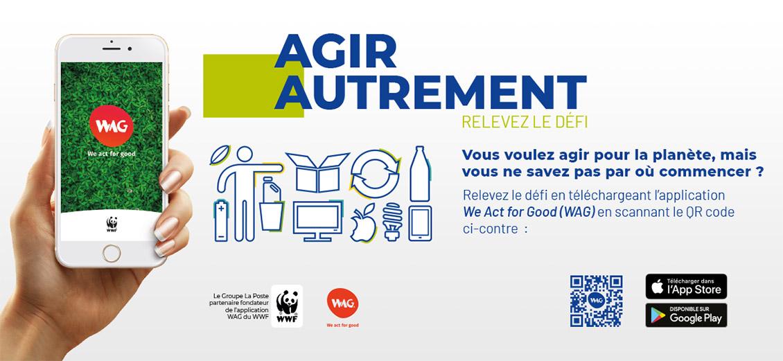 Affiche WAG Groupe La Poste, avec QR-Code valide.
