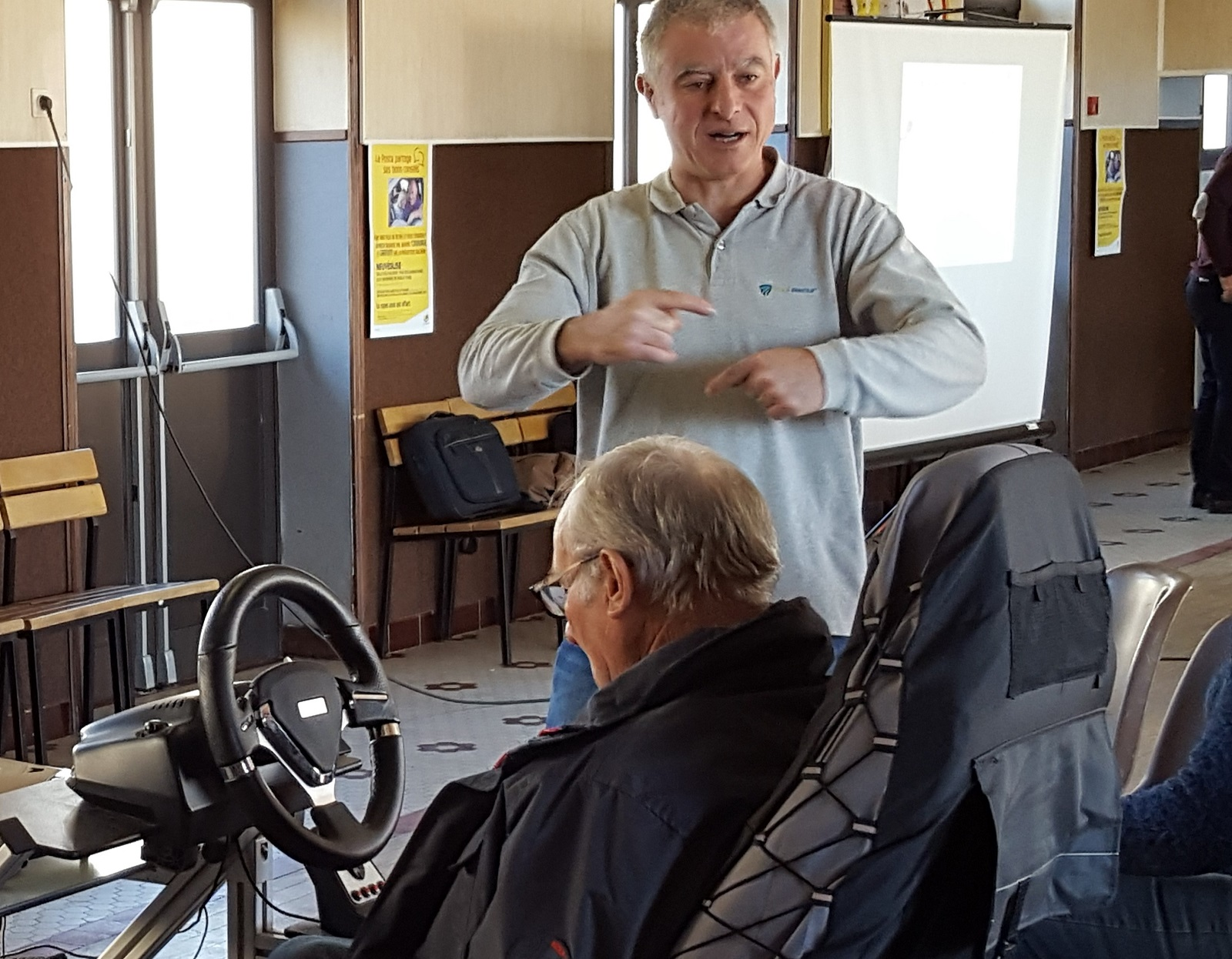 Senior citizens take part in road safety workshops in Cantal