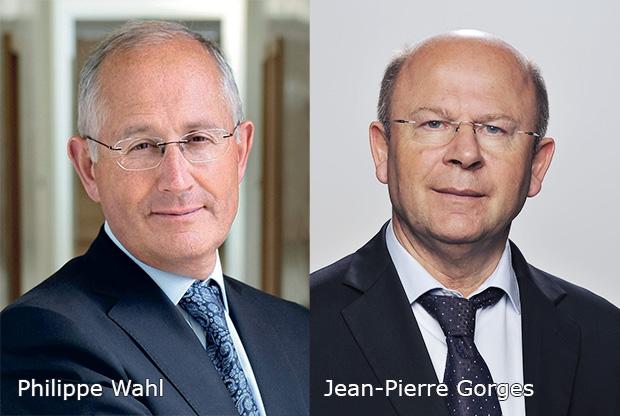 Philippe Wahl - président-directeur général du Groupe La Poste et Jean-Pierre Gorges président de Chartres métropole